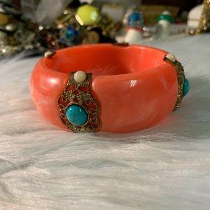 KJL Orange & Turquoise Bangle